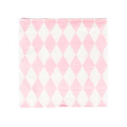 My Little Day Paper serviettes with pink diamonds - set of 20-listing