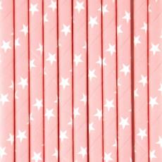 My Little Day Pajitas Rosa clara y estrellas blancas - lote de 25-listing
