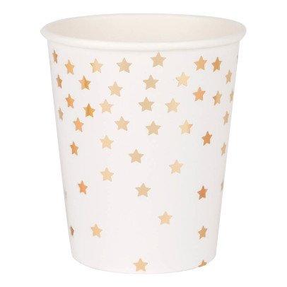 My Little Day Gobelets en carton étoiles métallisées - Lot de 8-listing
