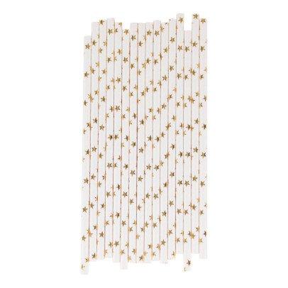 My Little Day Metallic Star Paper Straws - Set of 25-listing