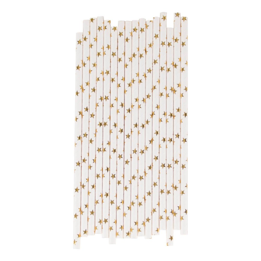 My Little Day Metallic Star Paper Straws - Set of 25-product