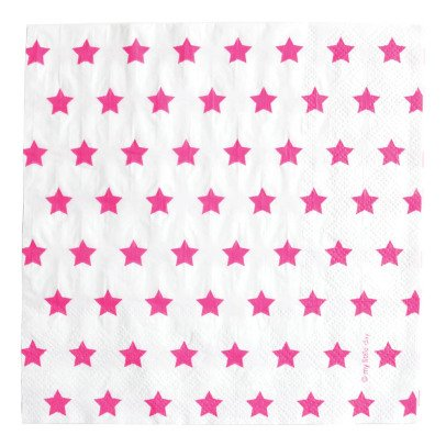 My Little Day Fuchsia Star Paper Napkins - Pack of 20-listing