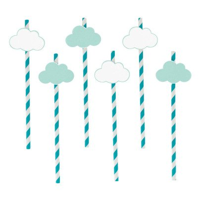 My Little Day Cloud Paper Straws - Set of 12-listing