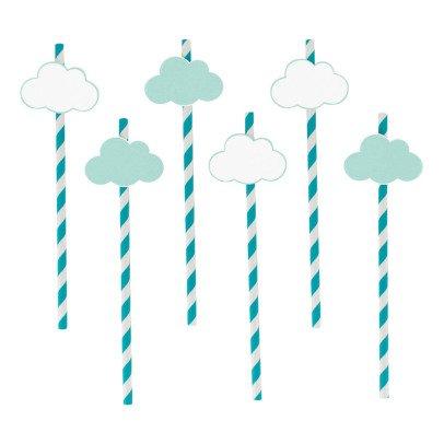 My Little Day Pajitas de papel nubes - Lote de 12-listing