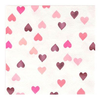 My Little Day Serviettes en papier Cœurs - Lot de 16-listing