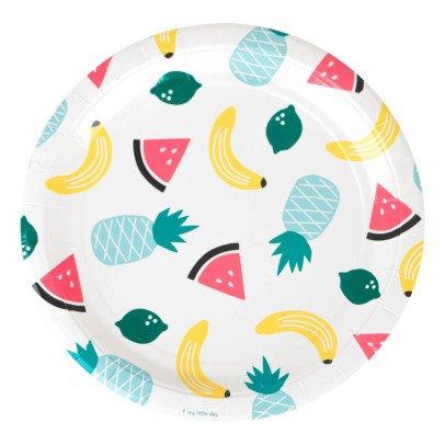 My Little Day 8 Piatti di carta Frutti -listing