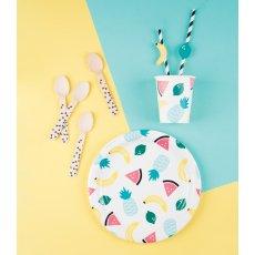 My Little Day Assiettes en carton Fruits - Lot de 8-listing
