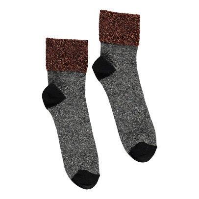 Polder Lurex Stitch Linen Socks-product