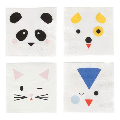 My Little Day Animal Paper Napkins - Set of 16-listing
