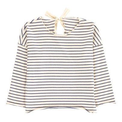 Babe & Tess Bow Back Striped T-Shirt-listing