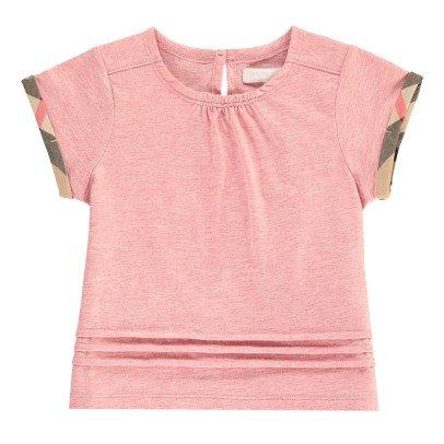 Burberry Tartan Detail Gisselle T-Shirt-listing