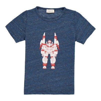 Simple Kids Camiseta Jaspeada Robot-listing