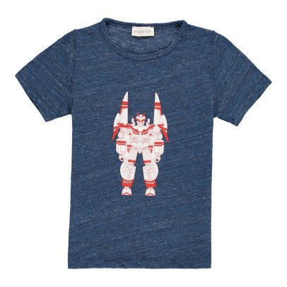 Simple Kids T-shirt Chiné Robot-listing