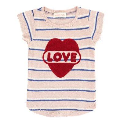 Simple Kids Gestreiftes T-Shirt Love -listing