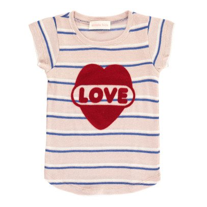 Simple Kids T-shirt Rayé Love-product