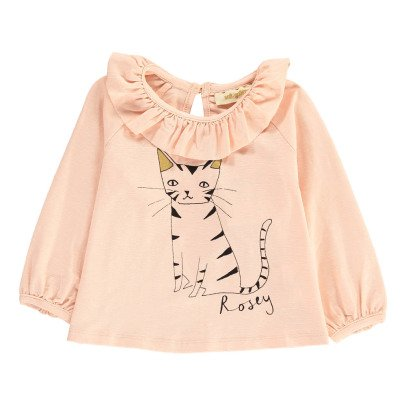 Soft Gallery T-Shirt Coton Bio Volants Chat Tulip-listing