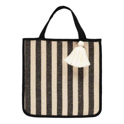 Tambere Striped Pompom Shopper-listing