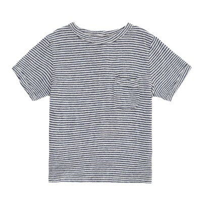 Morley Fred Striped Linen T-Shirt-listing