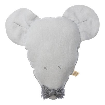 Petit Picotin Félicie La Souris  Washed Linen Cushion 28x40cm-listing