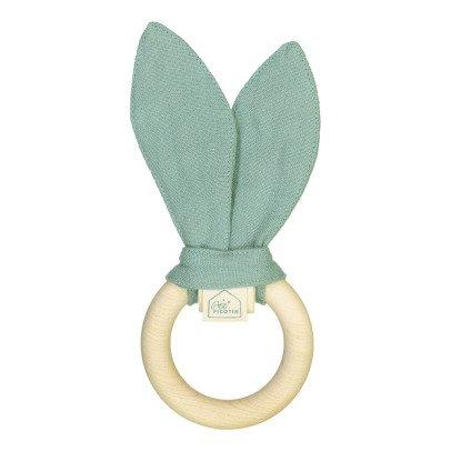Petit Picotin Hochet, anneau de dentition lin lavé-listing