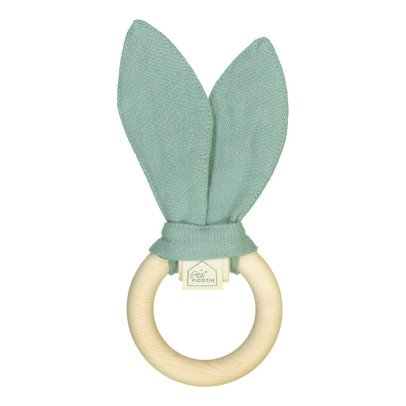 Petit Picotin Washed Linen Teething Ring Rattle-listing