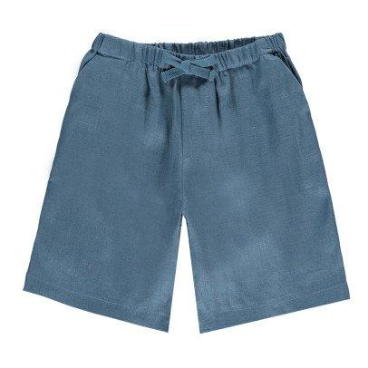 Omibia Miro Linen Bermuda Shorts-listing