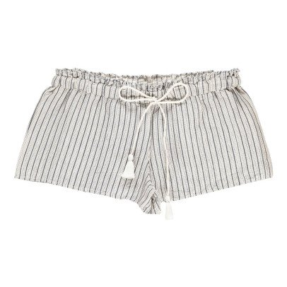 Polder Pretty Striped Linen Shorts-listing