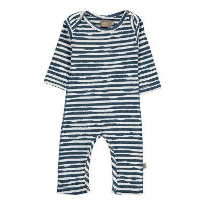 Kidscase Wave Organic Cotton Striped Jumpsuit-listing