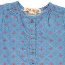Omibia Avilita Graphic Organic Cotton and Linen Blouse-listing
