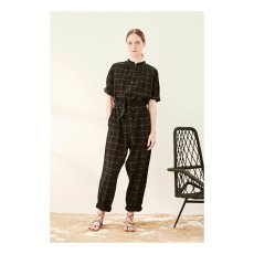 Polder Philip Lurex Checked Jumpsuit-product