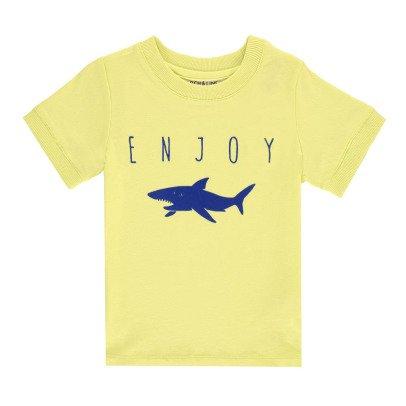 "ARCH & LINE Camiseta Algodón Biológico Tiburón ""Enjoy""-listing"