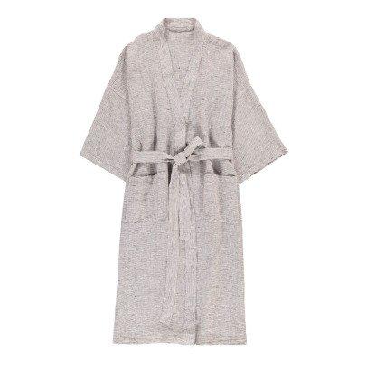 Linge Particulier Kimono aus Leinen gestreift-listing
