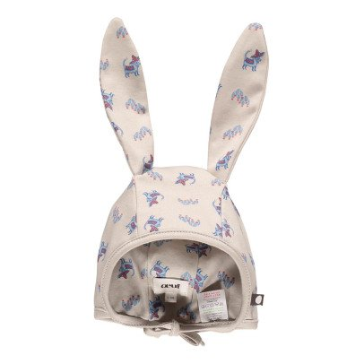 Oeuf NYC Organic Pima Cotton Newborn Hat with Rabbit Ears-listing