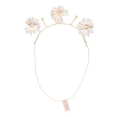 MAX & LOLA Headband Fait Main Fleurs Braid Ecru-listing