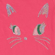 Simple Kids T-Shirt Katze mit Pailletten Puss -listing