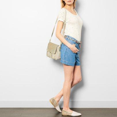 Craie Zweiseitige Tasche aus Stoff und Leder Mini Maths Lurex -listing