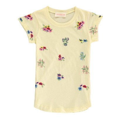 Simple Kids T-shirt Fiori Ricami-listing