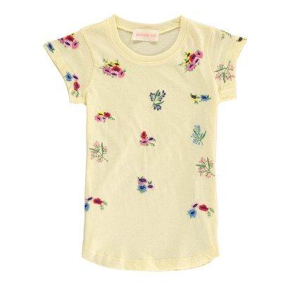 Simple Kids T-shirt Fleurs Brodées Ellis-listing