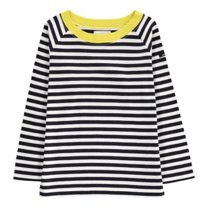 ARCH & LINE Yellow Collar Striped T-Shirt-listing