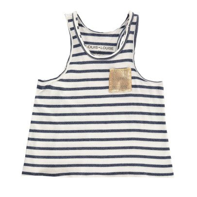 Louis Louise Piscine Striped Vest Top with Gold Pocket-product