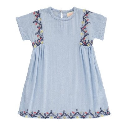 Simple Kids Laos Embroidered Dress-listing