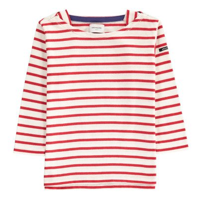 ARCH & LINE Boat Neck Striped T-Shirt-listing
