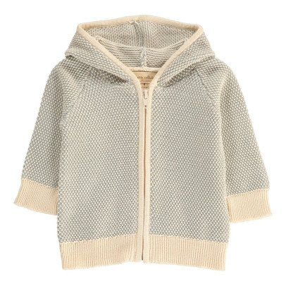 Lab - La Petite Collection Fluffy Stitch Hooded Cardigan-listing