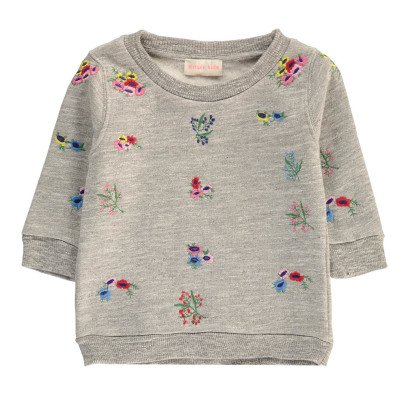 Simple Kids Felpa Fiori Ricamo-listing