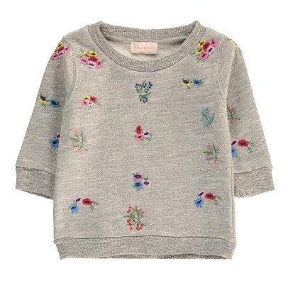 Simple Kids Flower Embroidered Sweatshirt-listing