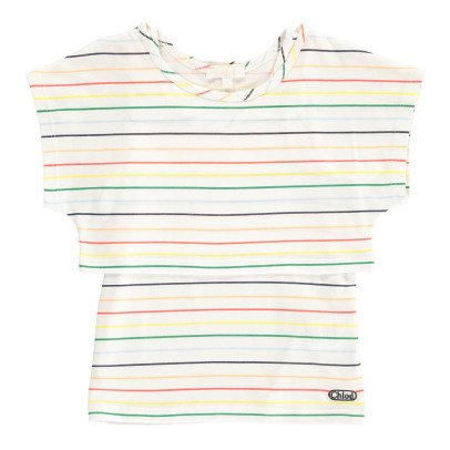 Chloé Striped Cropped T-Shirt & Vest-product