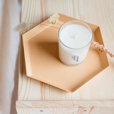 Cousu de fil blanc Almond Milk Candle 180g-listing