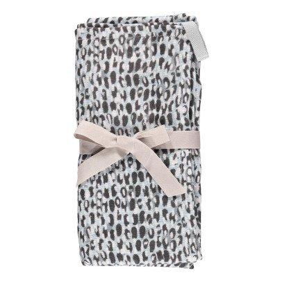 Moumout Lange en mousseline de coton 70x70 cm Pois-listing