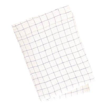 Linge Particulier Drap plat en lin à carreaux XL-listing