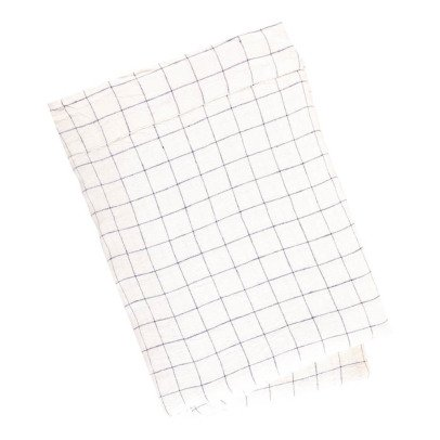 Linge Particulier XL Checked Linen Bed Sheet-product